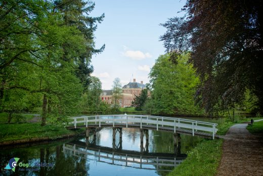 Het Slot Zeist vanaf de Waterigeweg.