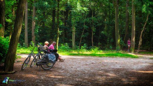 Even uitlbazen na een fietstochtje