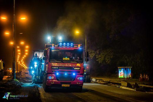 Wegwerkzaamheden aan de N237 gedurende de nacht door de Freesmij